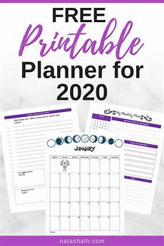 Personal Calendars 2020 Free Planner Printables For Your Best Year 2020 The