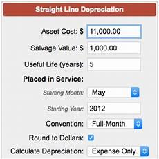 Depreciation Calculator Straight Line Depreciation Calculator
