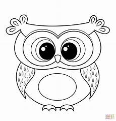 Owl Sheets Cartoon Owl Coloring Page Free Printable Coloring Pages