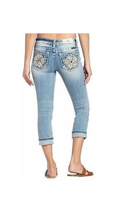 Light Pink Miss Me Jeans Miss Me Women S Pink Flower Embellished Mid Rise Single