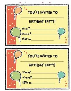 How To Make Party Invitations On Word Free Birthday Party Invitation Templates Word Pdf
