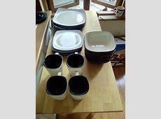 16 Piece Corelle Heartstone Stoneware Dinner Set Microwave