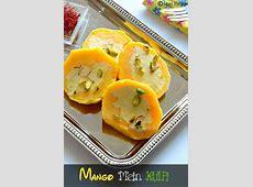 Fruit Mein Kulfi Recipe  Kulfi Stuffed Mango Mango Kulfi