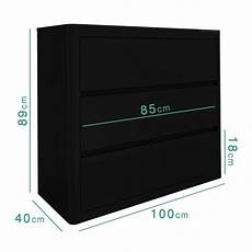 high gloss chest of drawers black 3 drawer cabinet bedroom