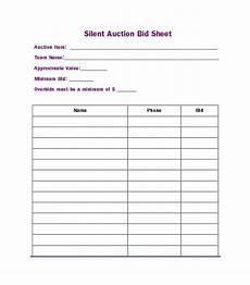 Bid Sheet Template Free Free Silent Auction Bid Sheet Templates Word Excel