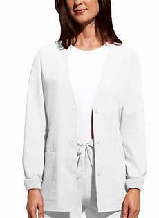 white scrub coats for as white workwear cardigan warm up scrub jacket 4301