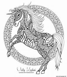 hatsune coloring unicorn mandala coloring pages