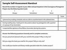 Sample Self Assessment For Work Sample Self Assessment Handout Resources For Working