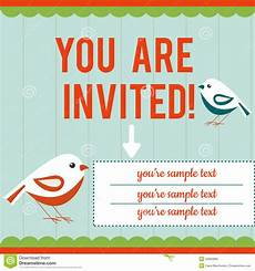 You Re Invited Templates Invitation Card Template Stock Vector Illustration Of