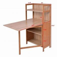 2 in 1 convertible wood folding desk cabinet with