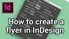 Create A Free Flyer How To Create A New Page Make A Flyer In Indesign 1 6