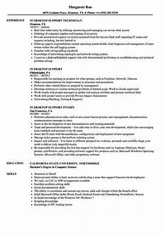 Resume Of Desktop Support Engineer It Desktop Support Resume Samples Velvet Jobs