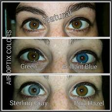 Air Optix Color Chart Air Optix Colors On Naturally Brown Eyes Order 918 893