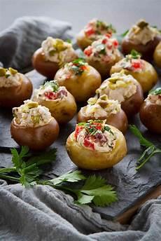 mini goat cheese stuffed potato appetizers
