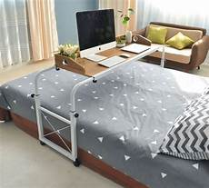 bed sliding table lets you work and eat in bed