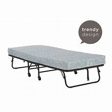 folding bed cot 5 inch mattress guest size portable