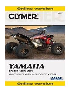 Yamaha Yfz450 Manual Repair Service Shop Online Version