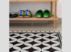 PVC vinyl mat Tiles Pattern Decorative linoleum rug ? Color Black & White 132 PVC Rug, Kitchen