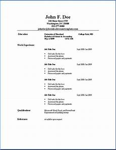 Example Of A Simple Job Resume Basic Resume Templates Download Resume Templates