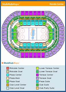 Honda Center Seating Chart Honda Center Seating Chart Pictures Directions And