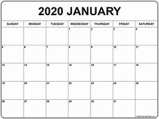 January 2020 Calendar Download January 2020 Calendar Free Printable Monthly Calendars
