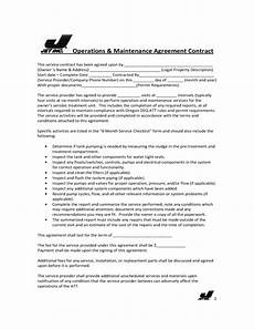Maintenance Contract Sample Sample Service Contract Free Download