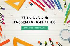 Free Teacher Powerpoint Templates Kindergarten Free Powerpoint Template Powerpointify