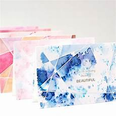 Water Color Cards Diy Watercolor Cards Pigment Powder Pixie Paint Handmade