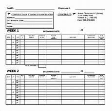 Two Week Timesheet 20 Bi Weekly Timesheet Templates Free Sample Example