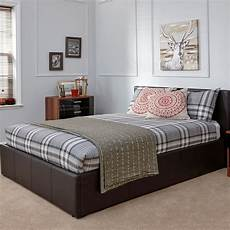 winston end lift small ottoman bed brown faux