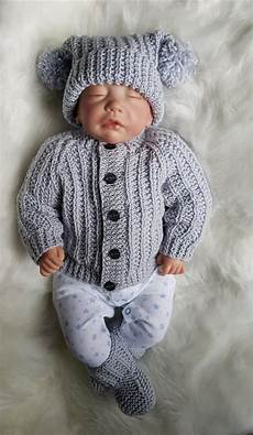 jacob baby cardigan hat booties knitting pattern in 2