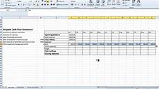 Cash Flow Templates Excel Spreadsheet Simple Cash Flow Statement Youtube