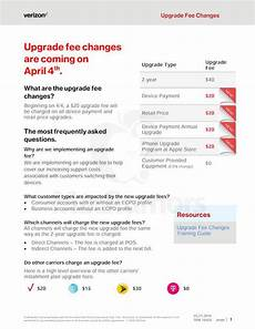 Att Wireless Customer Support Verizon Introducing 20 Fee To Upgrade Your Smartphone
