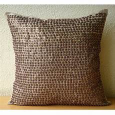 Sofa Pillows Decorative Sets Brown 3d Image by Brown Throw Pillows Cover Square Sequins Beaded Dotted