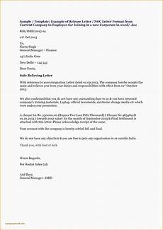 Sample Of No Objection Letter From Employer New Noc Letter Format For Visa From Company