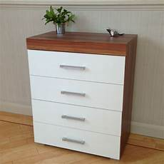 chest of 4 drawers in white walnut bedroom furniture