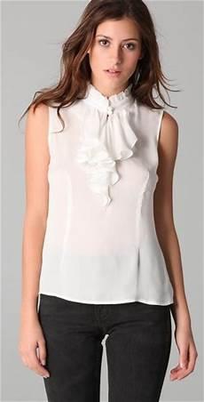sleeveless ruffle blouse tucker sleeveless ruffle blouse in white ivory lyst