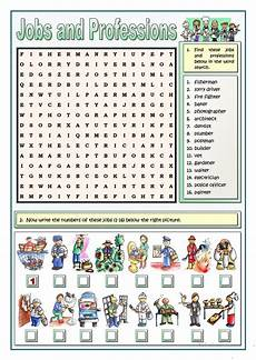 Job Search Activities Jobs And Professions Puzzles Worksheet Free Esl