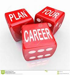 Your Career Plan Your Career Dice Gamble Future Opportunity Stock