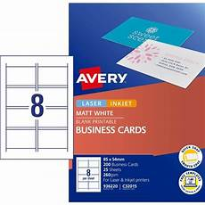 Avery Business Card Creator 42 50 Business Cards Avery Quick Clean Matte Inkjet