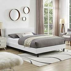 size upholstered fabric platform bed frame with wood