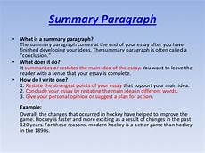 Summary Paragraphs How Many Paragraphs Are In A Summary Writing Tips Essay