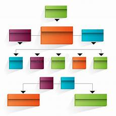 3d Organizational Chart 3d Corporate Organizational Chart Icon Stock Vector