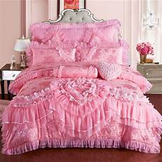 princess lace bedding set king size silk