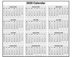 2020 Us Calendar Printable Calendar 2020 Pdf For Mark Your Daily Class Calendar