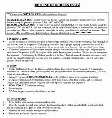 Process Essay Outline How To Write A Process Essay Effective Tricks At Kingessays 169