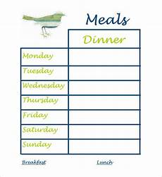 Weekly Dinner Schedule Dinner Schedule Template 8 Free Word Pdf Excel