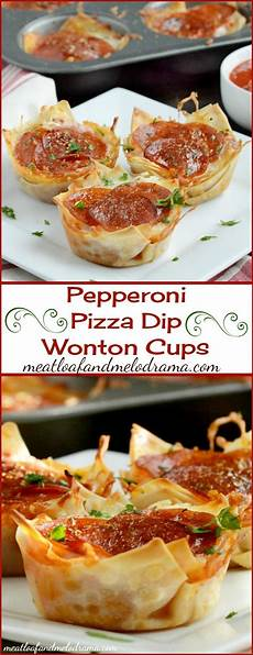 pepperoni pizza dip wonton cups recipe wonton cups