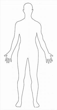 Outline Of Human Body Front And Back Human Body Outlines Word Excel Samples