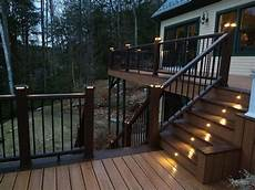 Cap Lights For Deck Low Voltage Deck Lighting Can Be An Easy Install For